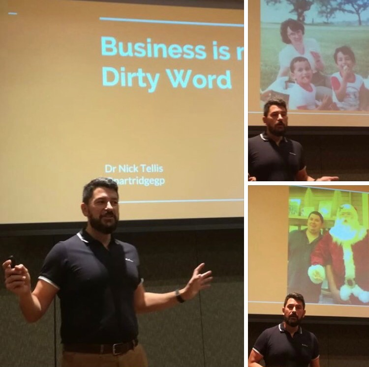 dr nick tellis business is not a dirty word